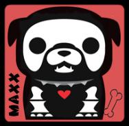 maxx the bulldog Skelanimals by xLaylarrRAWRx
