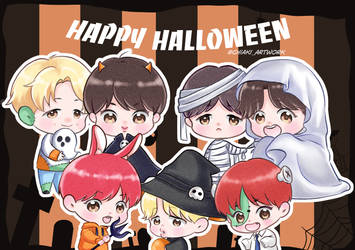 BTS halloween by chiakihayano