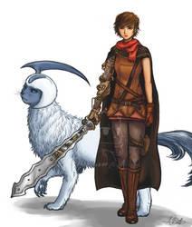 A warrior and her companion by Hubalaboo