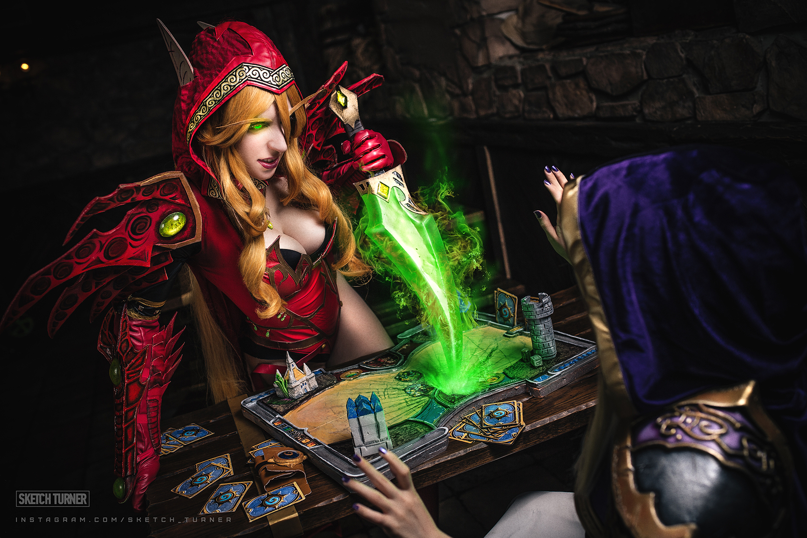heartstone valeera and jaina by shinkarchuk on deviantart