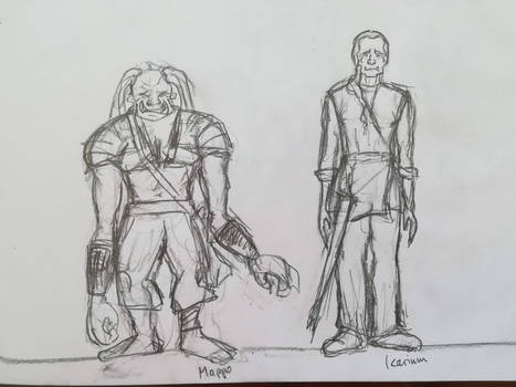 Mappo and Icarium Sketch