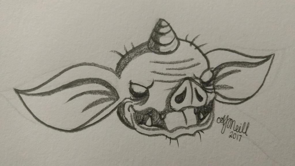 BOTW ~ Bokoblin head by Avajes