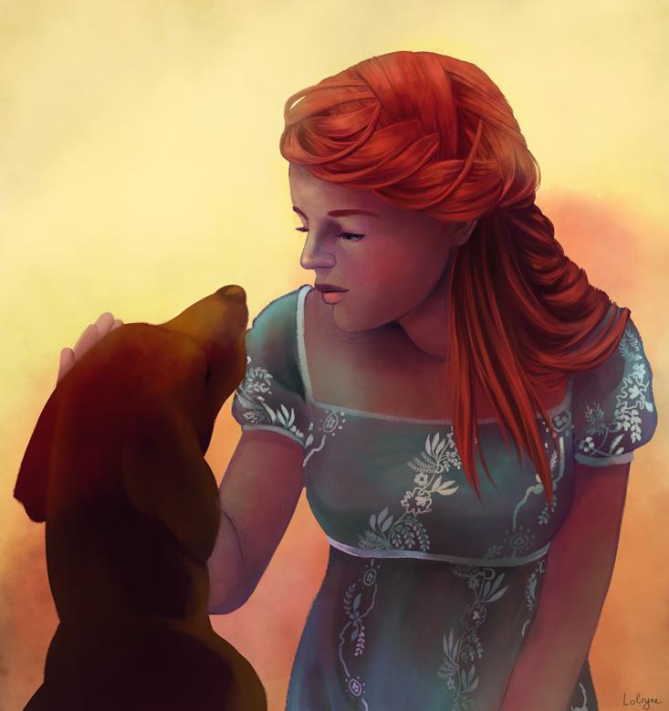 The sad old Hound by Lolryne