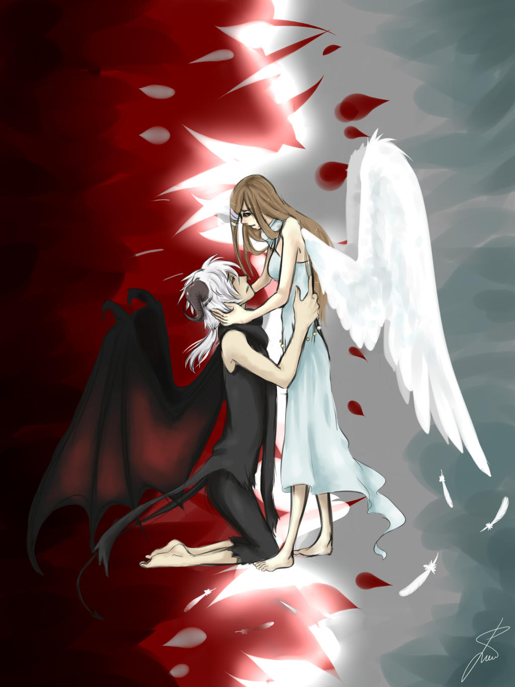 Love Between An Angel And A Demon by NyaTyan on deviantART