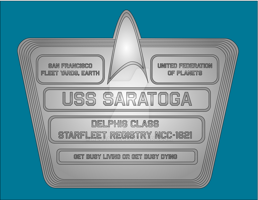 USS Saratoga Dedication Plaque by Azusa109