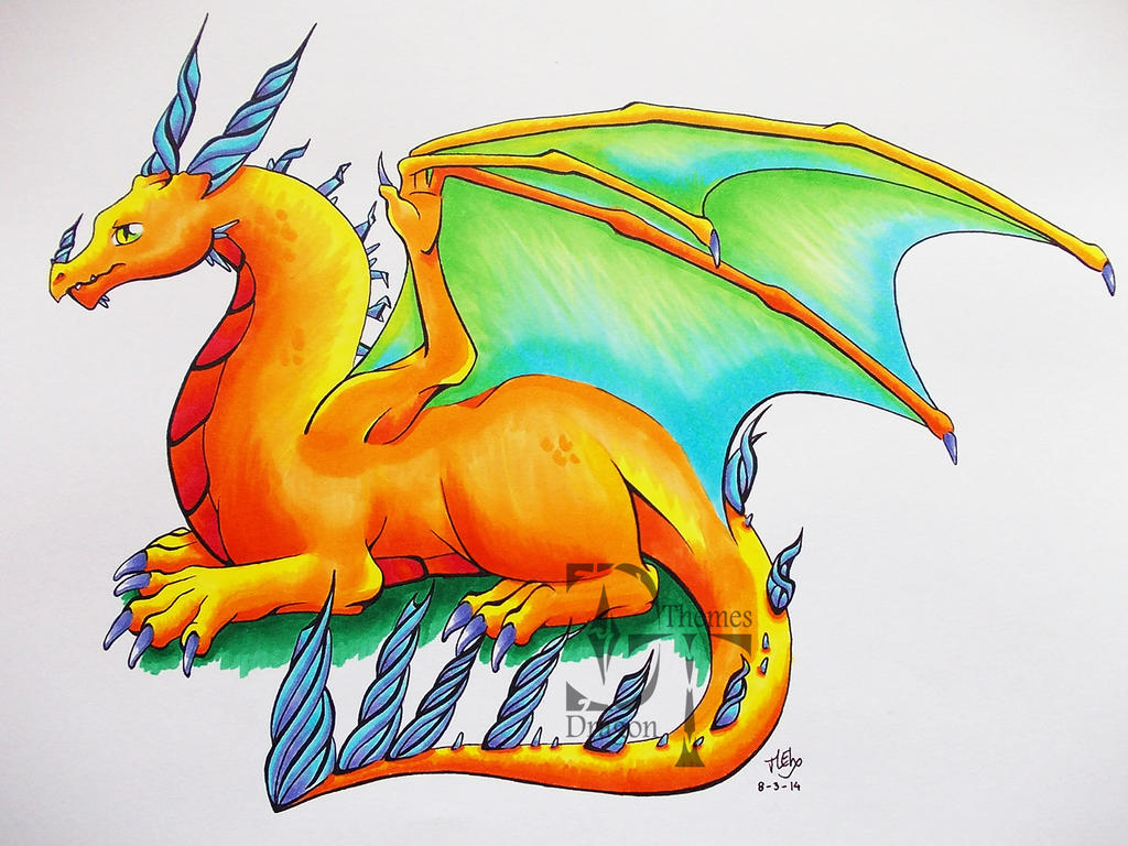 Copic Dragon by DragonThemes
