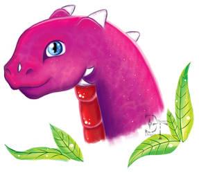 Pink Dragon Head [sketch] by Melydion