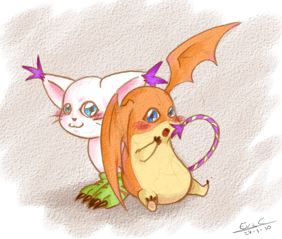 Gatomon And Patamon Gatomon n Patamon by E...