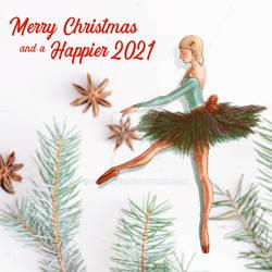 Ballerina Xmas Card 2020