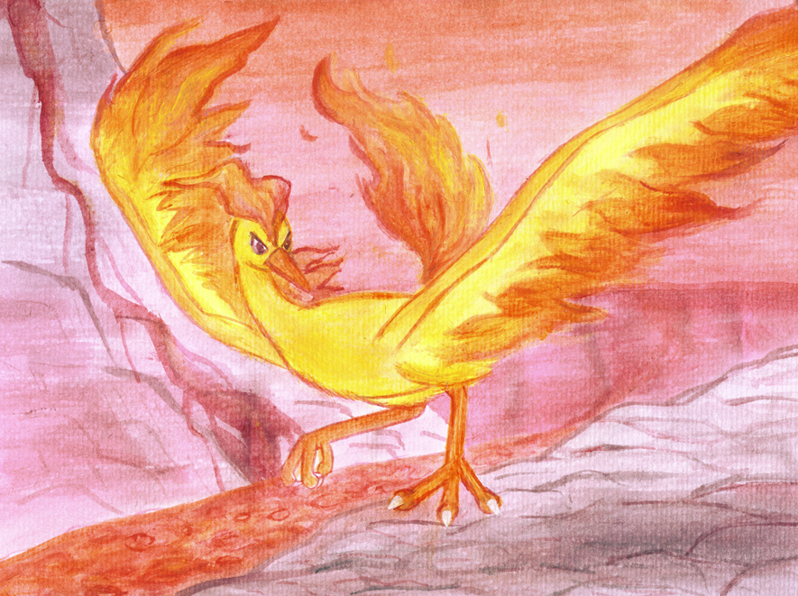 Moltres Painting by Articuno