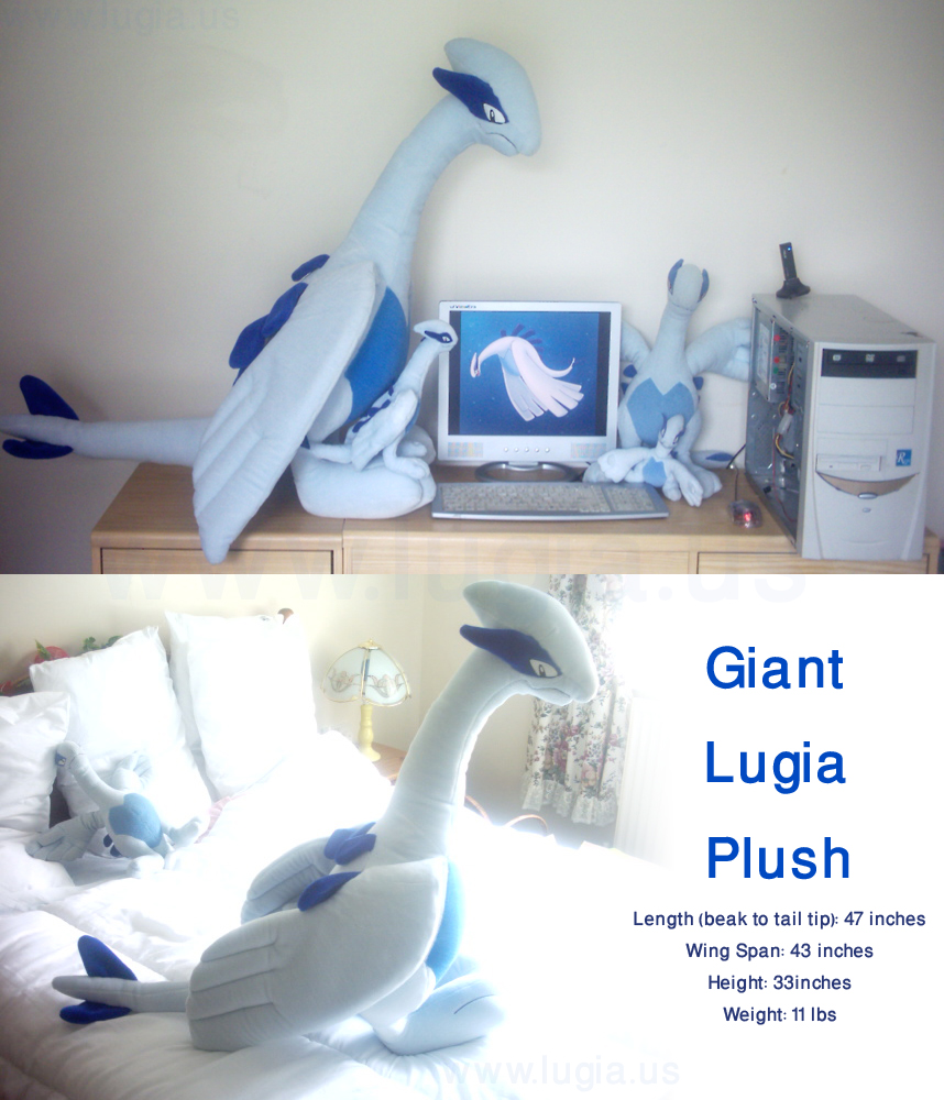 The Official Giant Lugia Plush by Articuno