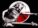 Roger Waters performing the Wall