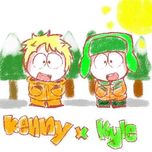 kenny x kyle by PinkZugar