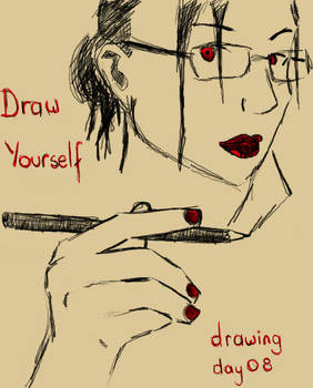 Drawing Day 08:  Draw Yourself