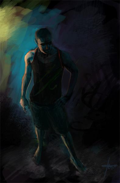 the dancer - speedpaint by Izaskun