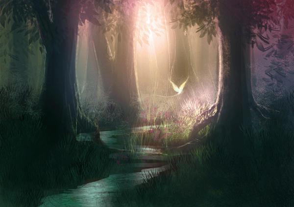 another forest speedpainting by Izaskun