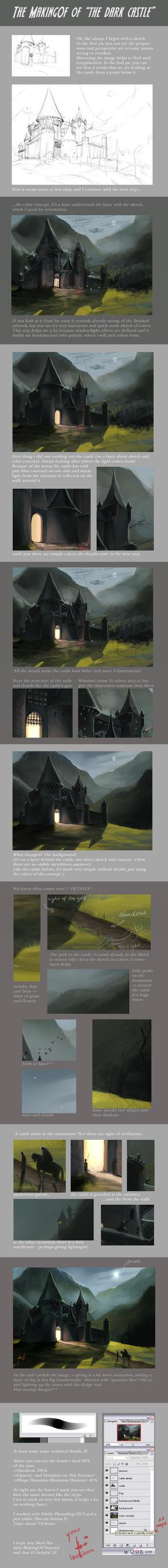 MakingOf - the dark castle by Izaskun
