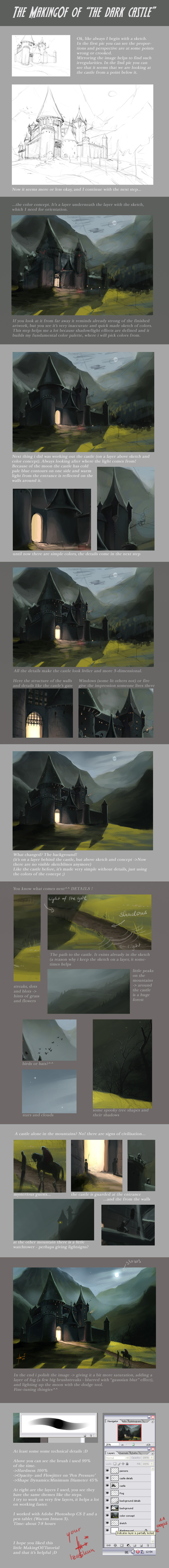 MakingOf - the dark castle by Izaskun
