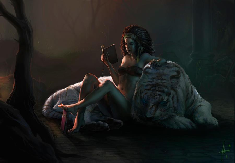 Sienna and Bhavani by Izaskun