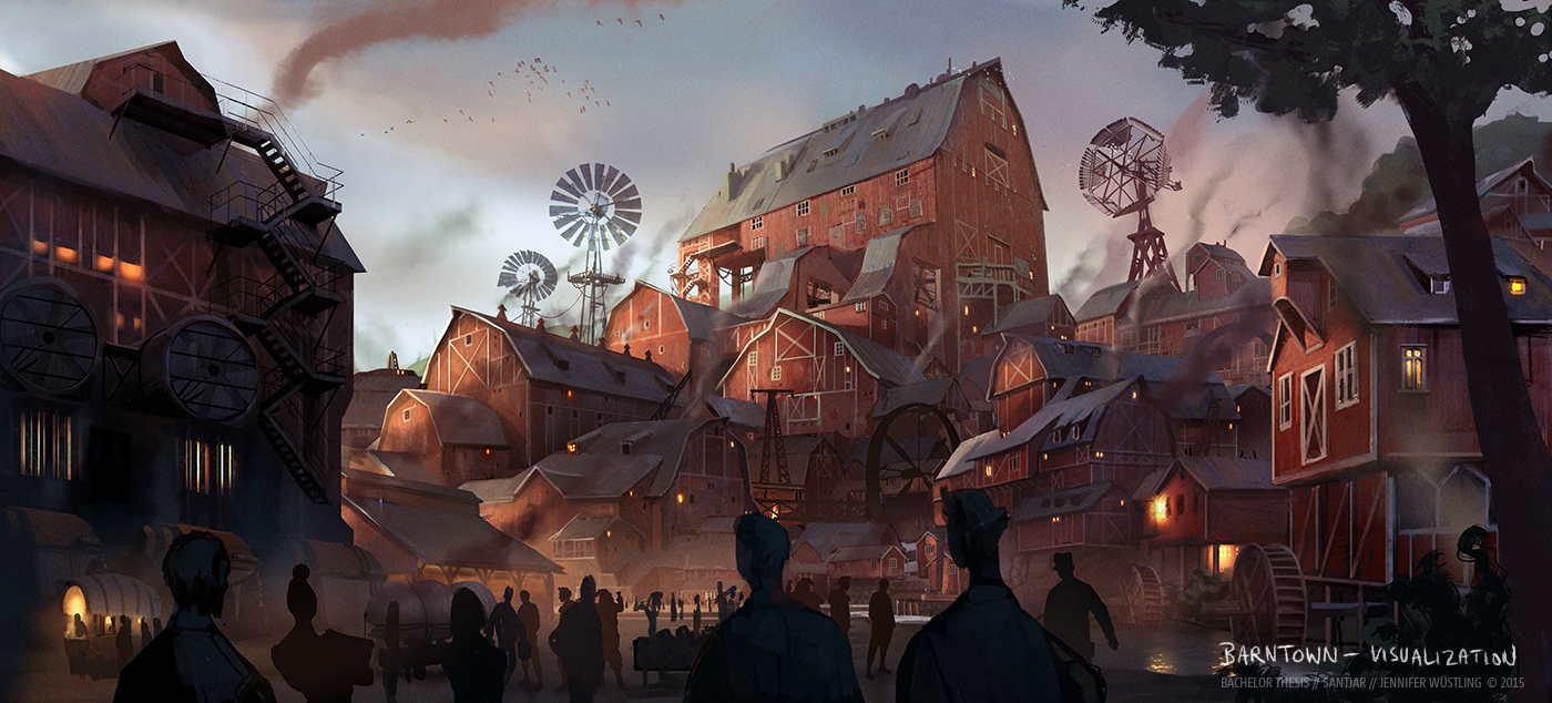 Barntown - Conceptual Visualization by Izaskun