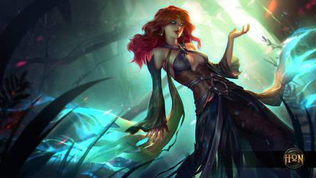 Heroes of Newerth - Green Lady Defiler by Izaskun