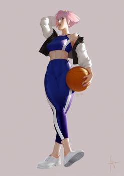 Basketball - Colored Inktober sketch
