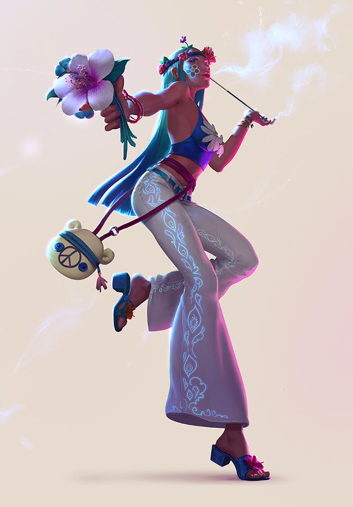 Hippie - FB Character Design Challenge by Izaskun
