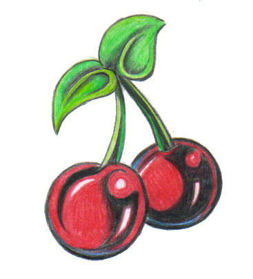 Tattoo Flash Cherries by cheldivision