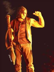 Daryl with RPG by 00sakon00