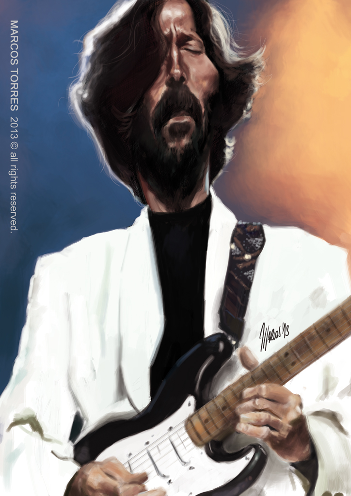 Eric Clapton caricature by jupa1128