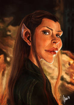 Evangeline Lilly caricature