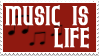 Music is Life stamp by nenwen-nw