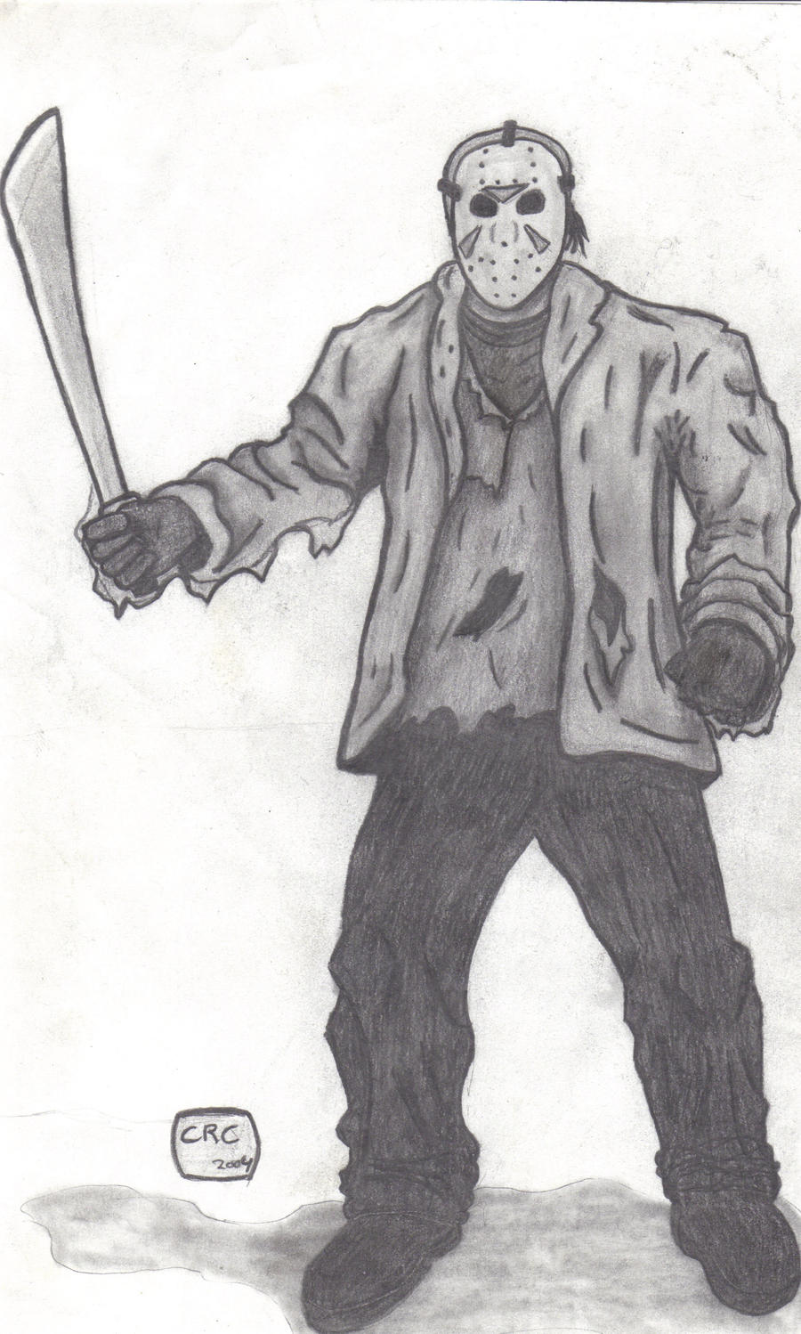 Jason Voorhees Drawing by PeterParker04 on DeviantArt