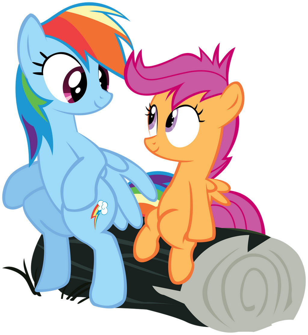 Rainbow Dash And Scootaloo Hug Rainbow Dash And Scootaloo