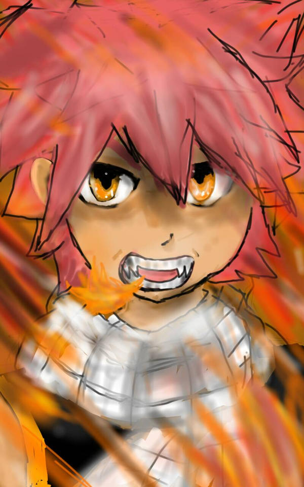Natsu Dragneel by onehitpoint