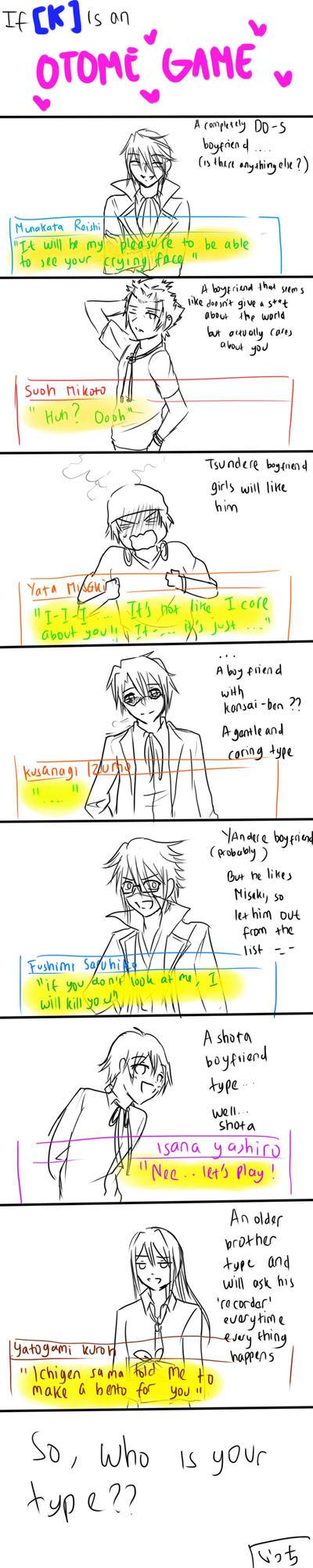 If... K is an otome game by ShirayukiHayame