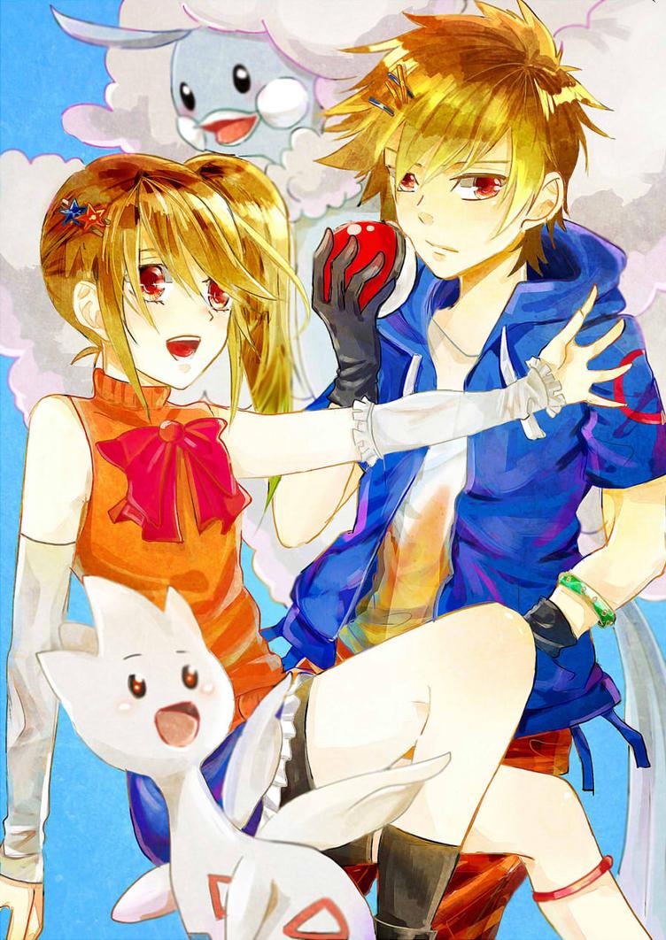 Pokemon ORAS OC - Kotoha and Konoha by ShirayukiHayame