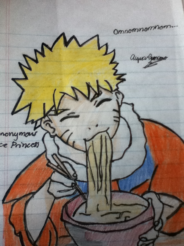 naruto eating ramen coloring pages - photo#7