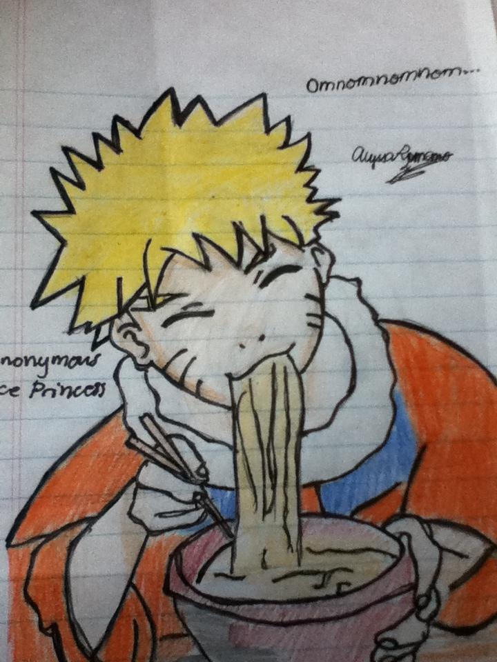 naruto eating ramen coloring pages - photo#17