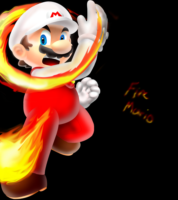 Fireball Mario Fire mario.... by foxeaf