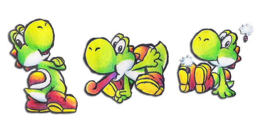 Yoshi Doodles by Foxeaf
