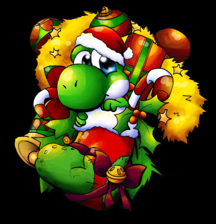 A Yoshi Christmas Stocking by Foxeaf