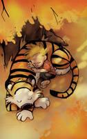 Calvin n Hobbes by Foxeaf