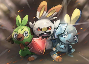 Pokemon Sword and Pokemon Shield! by Foxeaf