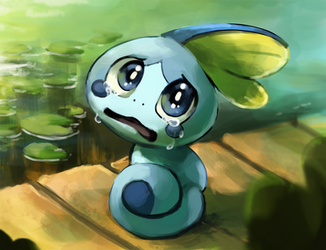 Sobble Sobbing by Foxeaf