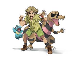 Steve Irwin Pokemon Champion by Foxeaf