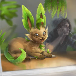 Detective Pikachu style : Leafeon
