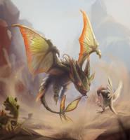 Monster Hunter x Pokemon - Flygon