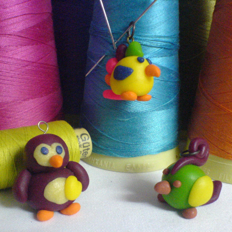 parrot earrings by strictlyhandmade