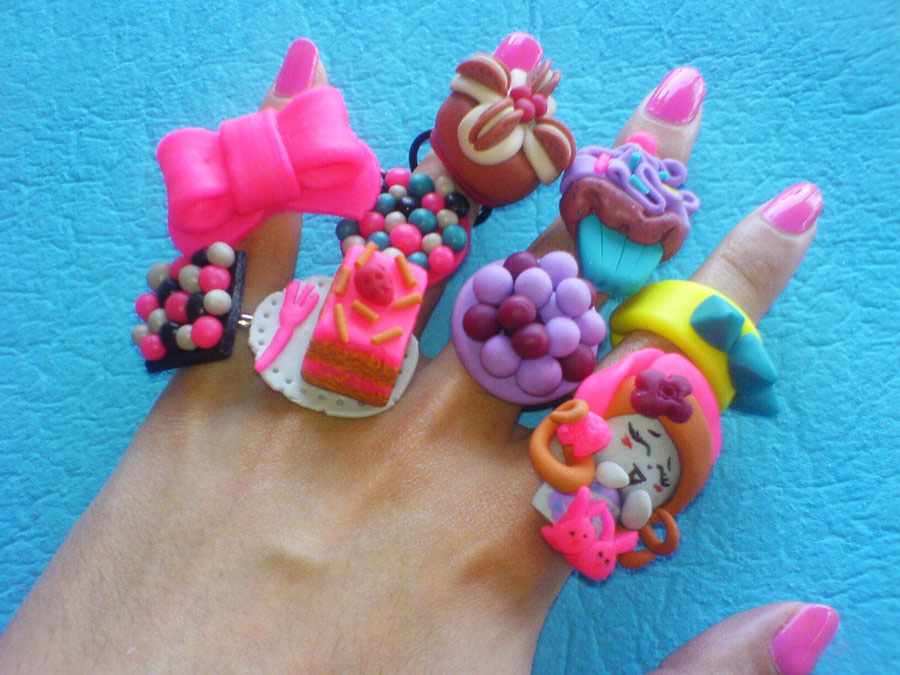 a few of my rings by strictlyhandmade